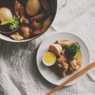 ホロホロ手羽元と卵の酢煮