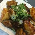 【自炊生活】一人暮らしでも美味しく食べたい!『秋茄子と豆腐の照り焼き』フライパン1つで楽チン調理!