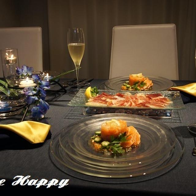 入籍記念日前夜祭を七夕テーブルで・・・