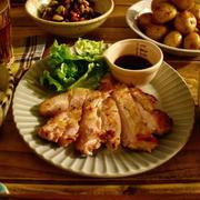 スタミナポークステーキで大満足な夜ご飯【おうちごはん*献立】
