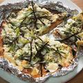 食パンの耳ピザ*しらすと葱の和ピザ