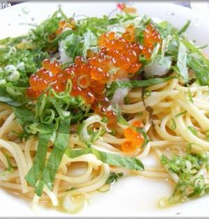 おろしと葱のスパゲッティ