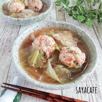 【豆腐でヘルシー】キャベツと豆腐団子の塩ちゃんこ煮♪【#鍋#ヘルシー】