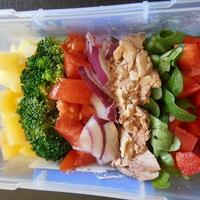 コブサラダのランチ! 簡単、時短、節約、野菜たくさん いいことばかり