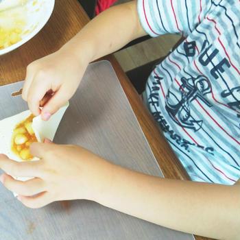 おうちで親子クッキング⑤【三角アップルパイ】とクックルンも・・?