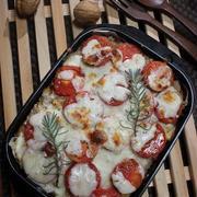 トマトとチーズのグリルハンバーグ