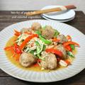 豚小間ボールと彩り野菜の炒め物