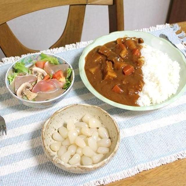 豚肉のコーラ漬けカレーでうちごはん(レシピ付)と国産松茸・生まぐろゲットだぜぃ!