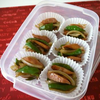 【祝】クックパッドつくれぽ10人話題入り★冷凍保存☆ウインナーと野菜の焼肉風炒め♪