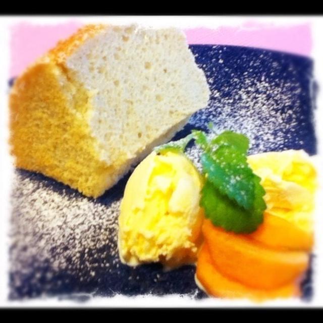 金時芋のシフォンケーキ
