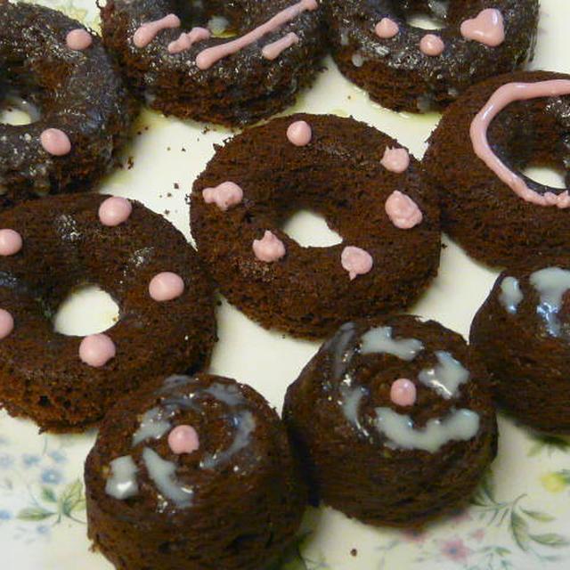 チョコ&ココアの焼きドーナツ