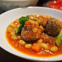 ミートボールのトマト煮~コロコロ野菜と大豆も入れてみました♪