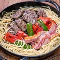 焼肉にパスタを入れると地味に美味しい&やっぱり製麺所の麺は美味しいですね