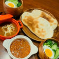本格的インド料理!ナンと2種の味カレープレート