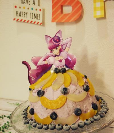 【簡単!食パンで】プリキュア♪キュアマカロンドームケーキ