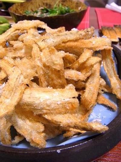 塩レシピ68 ごぼうチップス