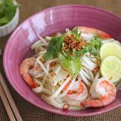 エビのベトナム風スープうどん