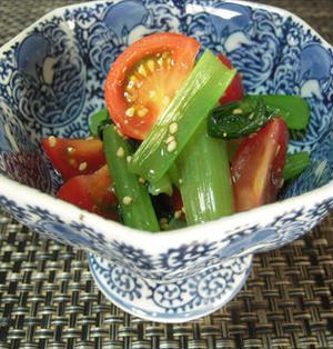 小松菜とトマトのお浸し