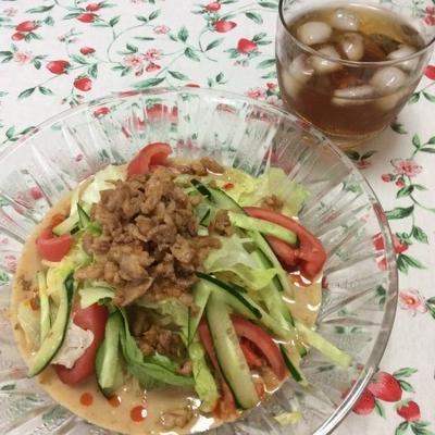 【レシピ】簡単!栄養満点☆ミルク担々冷し中華 ※シマダヤ「もみ打ち」生冷し中華(ごまだれ)使用