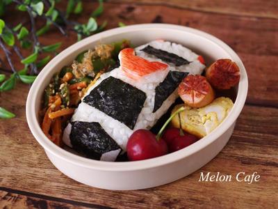 【手順つき簡単レシピ】はたらくクルマ「パトカー」のキャラ弁当(おにぎり)