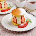 チーズクリーム&いちごのサンドケーキ