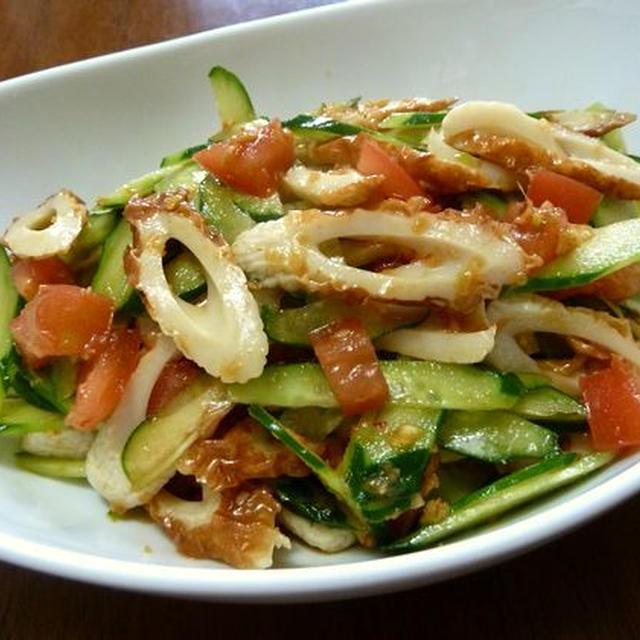 【簡単レシピ】ちくわのトマトときゅうりの中華和え♪