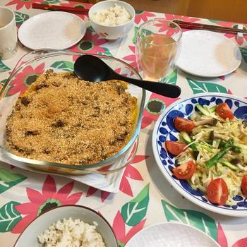 【さっくさく】カボチャとひき肉のスコップコロッケが簡単すぎる!