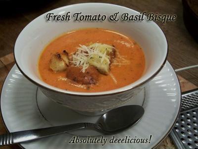 Tasty Tomato & Basil Bisque フレッシュ・トマト&バジルのビスク