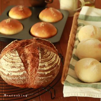 先日焼いたパン達とチャヤマクロビでお茶してきました♪