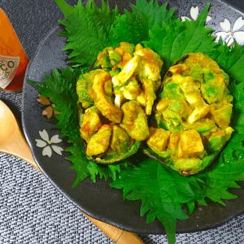 タバスコ最高。栗食感のマヨコチジャンアボ焼きオーブン(糖質3.4g)