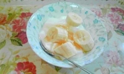 忙しい朝でも簡単に、バナナヨーグルト♪100個のヨーグルトレシピでダントツに簡単で美味しいです♪