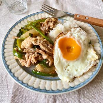【レシピ】お手軽食材で!豚こま和風ガパオライス