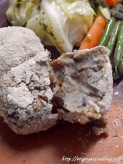 白花豆と白キノコのコロッケ