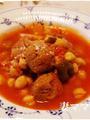 サンマのすり身&ひよこ豆のトマト煮