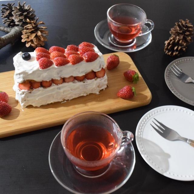 ノンオイルでもしっとり♪本みりんで作る「苺のスポンジケーキ」