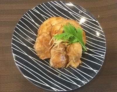 ご飯にぴったり・・生姜を利かせて鶏もも肉と車麩の照り煮~♪♪