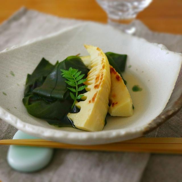 春香る焼き筍とわかめの煮物