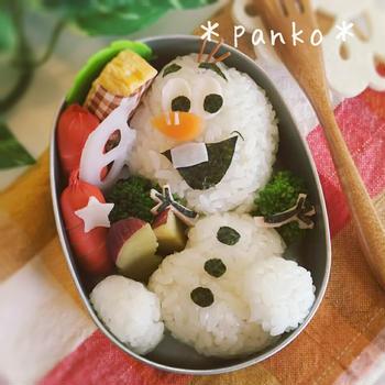 アナ雪オラフのお弁当/キャラ弁