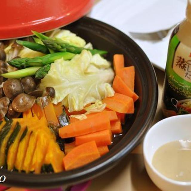 初タジン鍋とご飯が進むザーサイサラダ