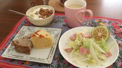 朝ごはん:フライパンで簡単蒸し野菜サラダ
