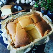 カツで勝つ!と、ふわんふわんしゅわ~ん❤️焼きっぱなしが素朴なスフレチーズケーキ♪