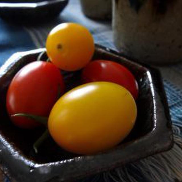 マンション隅っこでアイコトマト収穫
