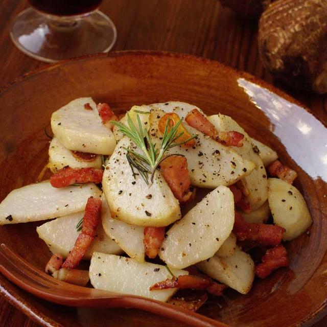 覚書☆ 里芋とパンチェッタのソテー ローズマリーの香り♪