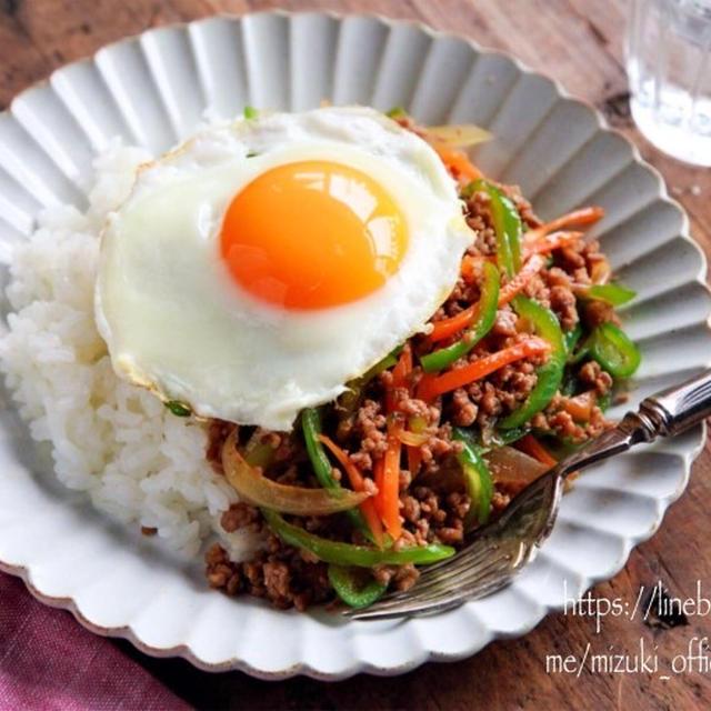 ♡ひき肉と野菜のうまだれ丼♡【#簡単レシピ#時短#節約】