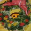 ポテトサラダのクリスマスリース