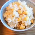 【あそれい幼児食】-レシピ-大豆ごはん