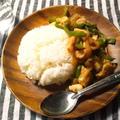 家にある食材&調味料で、辛くない、ガパオライス風ご飯