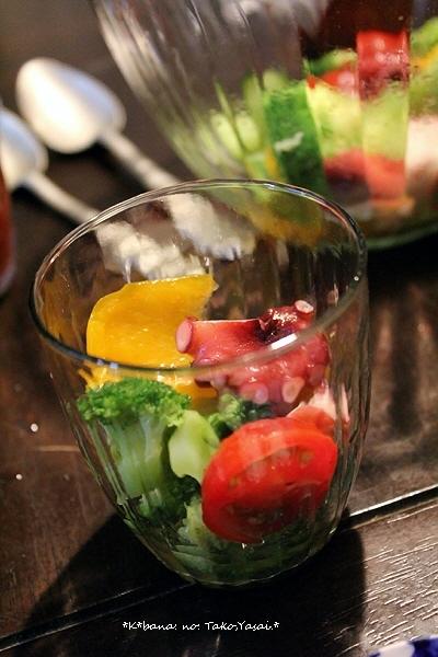 蛸と野菜の出汁サラダ