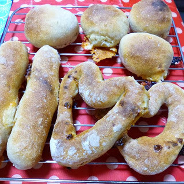 【パン】リスドォルのバゲット生地で2種〜キャラメルチョコチップパンとチーズパン