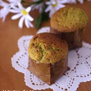 マロンペーストでつくる、抹茶のカップケーキ☆簡単にできる抹茶スイーツ(焼き菓子)